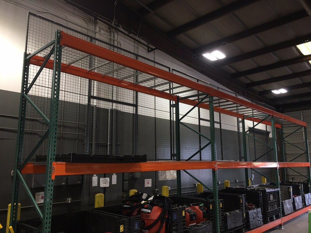 Pallet Rack with guard backing