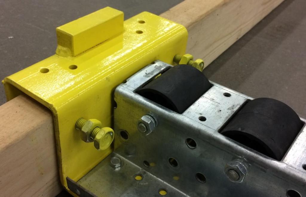 Pitch-Rail Pushback Pallet Rack Pallet Stopper