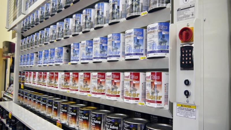 Vertical Storage Carousels Paint Can Storage