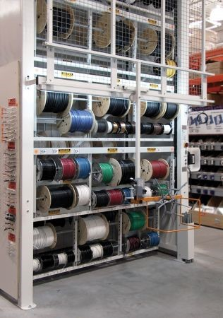 Vertical Storage Carousels for Wire Spool