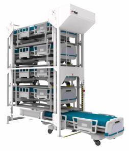 Bed lifts for healthcare storing assets