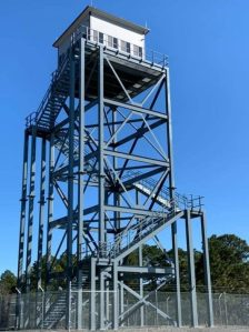 Panel Built Operator Cab on a 70 Foot Tower Military