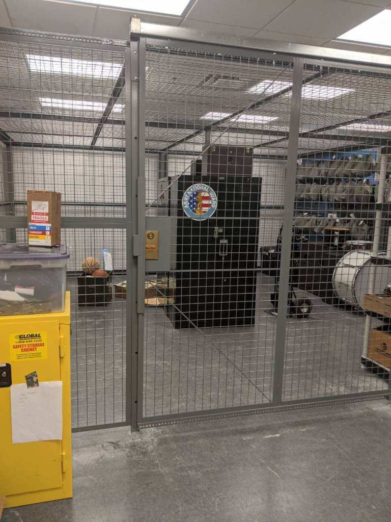 Security Cage for Band Equipment Storage