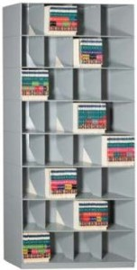Stackable Shelving VuStak Open shelf filling system