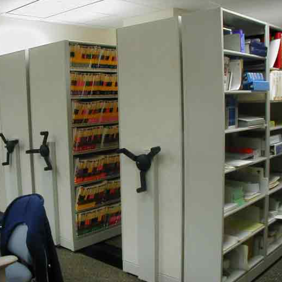 Mobile Shelving for Medical Records