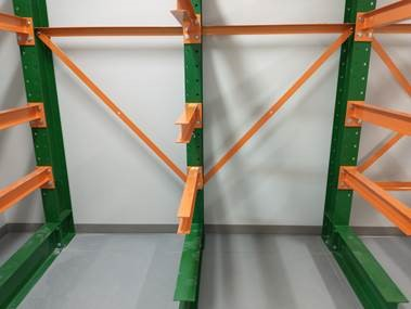 Cantilever Pallet Rack for Lumber at Junior High School