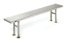 Cleanroom Gowning Bench Solid