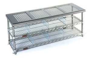 Eagle Cleanroom Gowning Bench Perforated Top