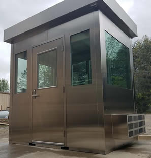 Guard Shack Made From Stainless Steel