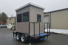 Guard Shack Mounted on Trailer