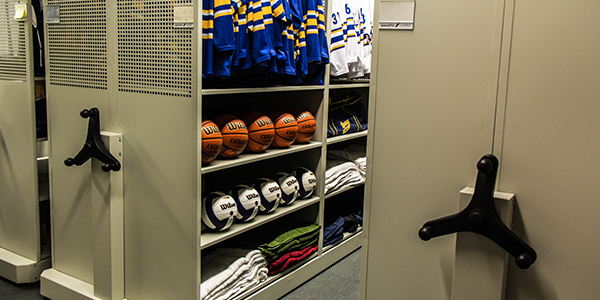 SpaceFile Mobile Shelving for Athletic Equipment