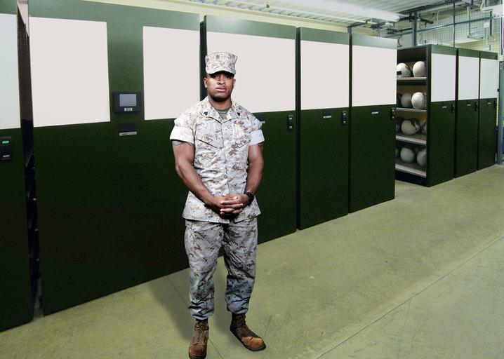 Aurora Military Flight Gear Shelving Mobile Shelving