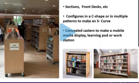 Aurora Mobile Library Shelving on Casters
