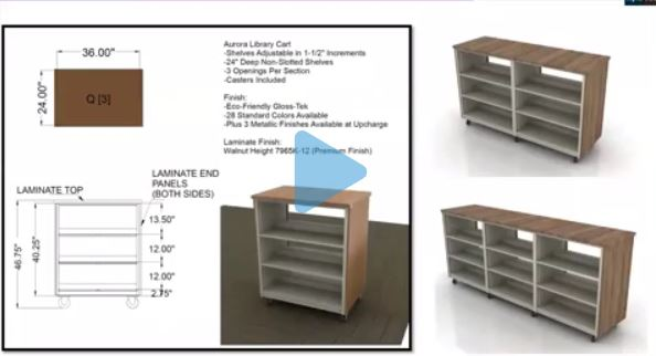 Aurora Mobile Shelving for Libraries
