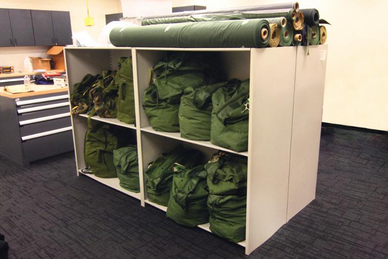 Aurora Readiness Bag Shelving