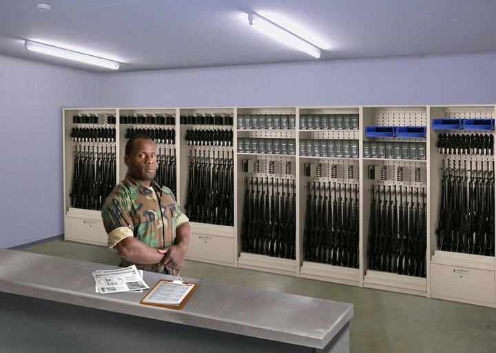 Aurora Weapons Storage Shelving