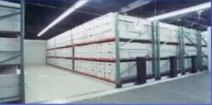 Mobile Media Mobile Shelving for Archive Boxes on Pallet Rack