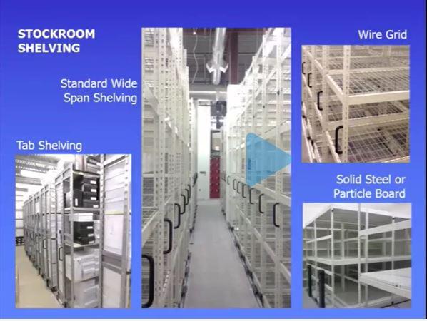 Mobile Media Stockroom Shelving
