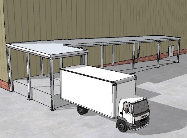 Panel Built Loading Dock Canopy