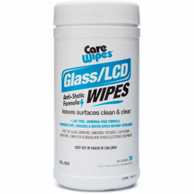2 Xl Corporation 2XL CareWipes Glass/LCD Anti-Static Wipes, 70 Wipes/Can, 6 Cans/Case – 2XL-600